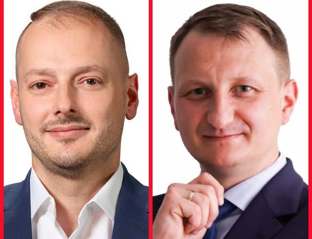 W II turze wyborów zmierzą się (od lewej): Rafał Kotarski i Tomasz Olejnik.