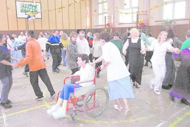 Pacjenci branickiego szpitala najlepiej bawili się tańcząc.
