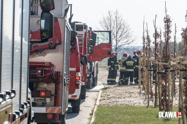 Wyciek gazu pod Wrocławiem. Koparka uszkodziła rurociąg