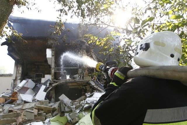 Z budynku po wybuchu nie zostało praktycznie nic.