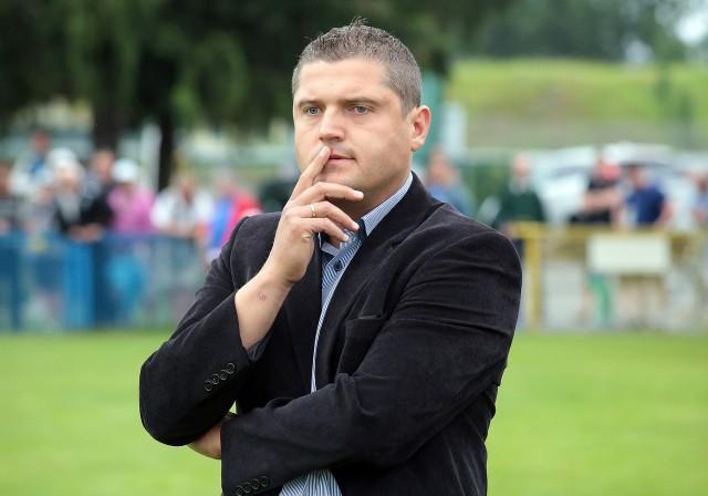 Krzysztof Kapuściński jest pierwszym trenerem Błękitnych od połowy 2012 roku.
