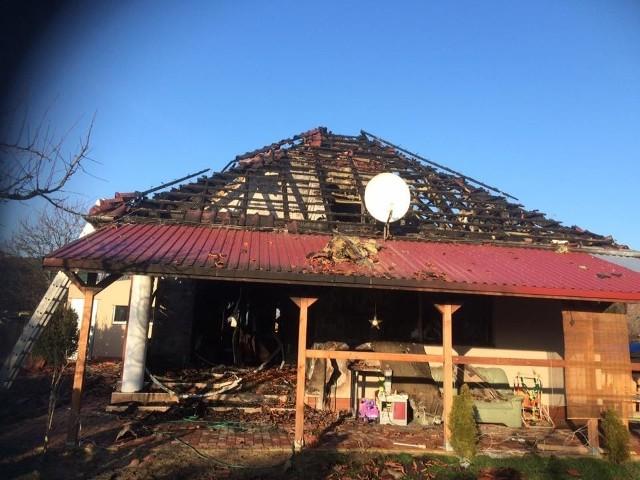 Jeszcze niedawno rodzina miała śliczny dom, dzisiaj została bez dachu nad głową.