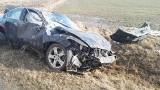 Wólka Pietrowska. Wypadek na drodze do Topczewa. Strażacy wycinali pasażerkę (zdjęcia)