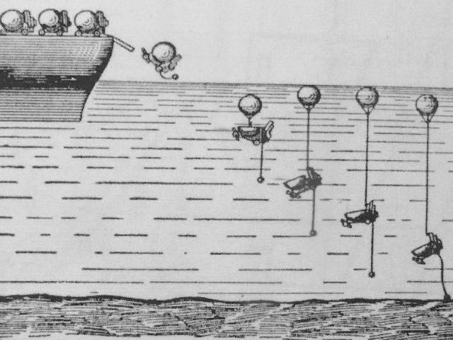 Sposób wodowania min morskich