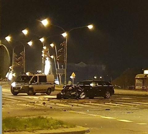 Zdjęcie wykonane tuż po wypadku