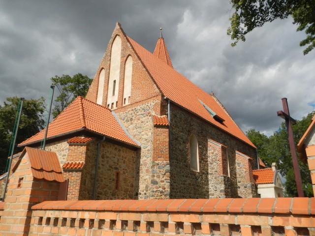 Grzywna Biskupia: gotycki kościół pw. św. Katarzyny.