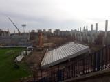 Stadion w Szczecinie: Dużo zmian na trybunie zachodniej. Zaraz zabiorą się za łuk [ZDJĘCIA]