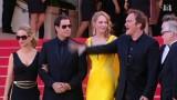 """Cannes, Francja. Spotkanie po latach - ekipa filmowa """"Pulp Fiction"""" (wideo)"""