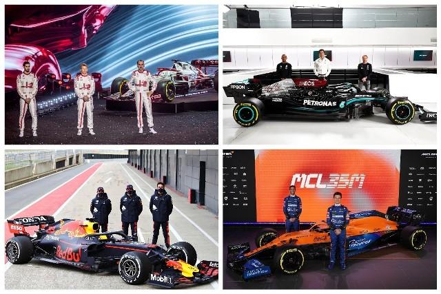 """Wreszcie rusza! Nowy sezon Formuły 1 zacznie się od Grand Prix Bahrajnu. W tym roku mamy kilka zmian w składach ekip, a także jest jedna nowa (choć obecna w stawce od dawna, ale pod inną nazwą). Zobacz kierowców i ich bolidy, jakie będziemy oglądać w 2021 r.Uruchom i przeglądaj galerię klikając ikonę """"NASTĘPNE >"""", strzałką w prawo na klawiaturze lub gestem na ekranie smartfonu"""