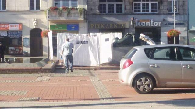 Na Rynku w Bytomiu znaleziono martwego człowieka.