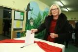 Wybory samorządowe 2014. Tak głosowała Joanna Kopcińska [zdjęcia]