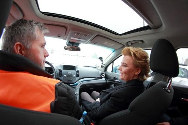 Z prezydent Hanną Zdanowską objechaliśmy samochodem Nowe Centrum Łodzi i drogi dojazdowe do dworca Łódź Fabryczna