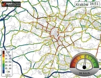 Dynamiczna Mapa Predkosci Krakowa Dziennik Polski