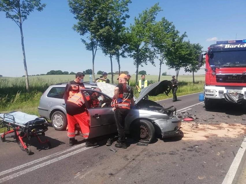 Wypadek koło Gościna