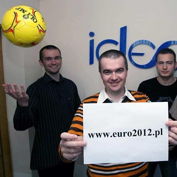 Zespół Ideo cieszy się, że to oni będą tworzyć internetowy serwis informacyjny mistrzostw.