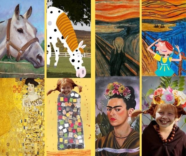 Wykonanie pracy plastycznej związanej z Pippi, a inspirowanej obrazem jest jednym z zadań konkursowych