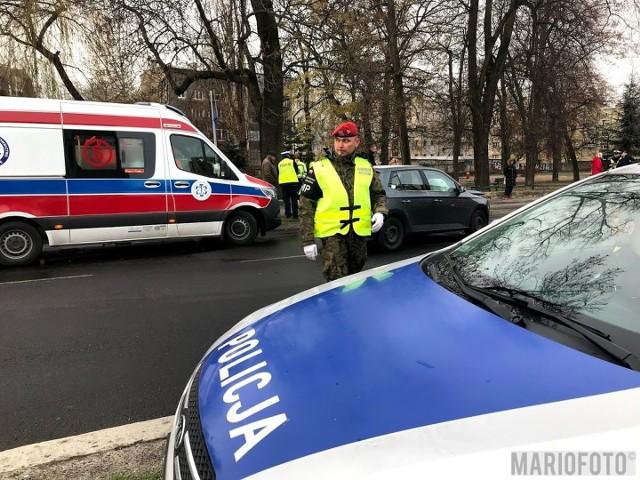 Wypadek na ul. Wrocławskiej w Opolu. Zderzyły się dwie skody.