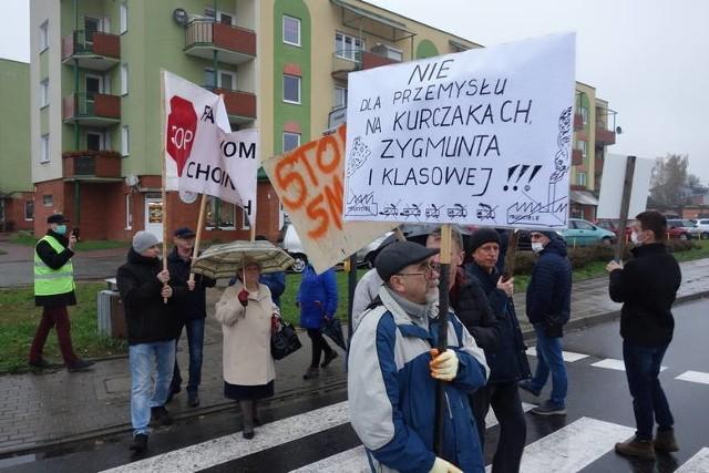 Pikieta z 27 października 2017 r. przeciw działalności zakładu na Kurczakach