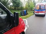 Droga wojewódzka nr 163: Kierowca stracił panowanie nad pojazdem i wpadł do rowu