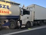 Karambol na DK 11 pod Olesnem. Tir wjechał w cztery samochody, trzy osoby ranne [NOWE FAKTY]