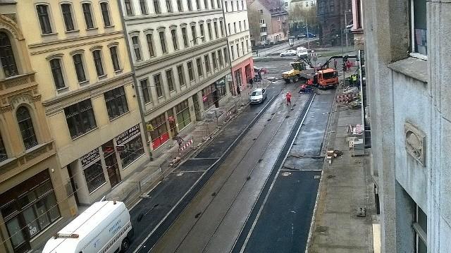 Ostatnie prace przed otwarciem ulicy Krupniczej