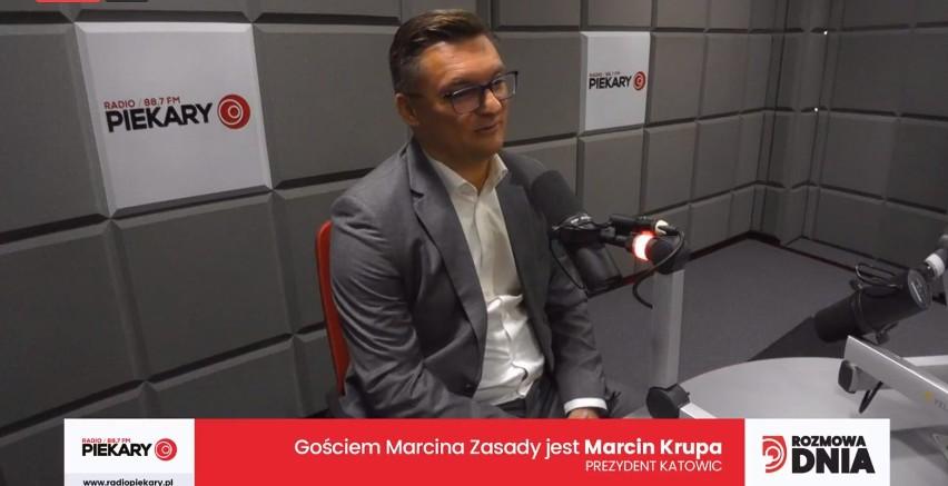 Prezydent Katowic Marcin Krupa w jako Gość Dnia Dziennika...