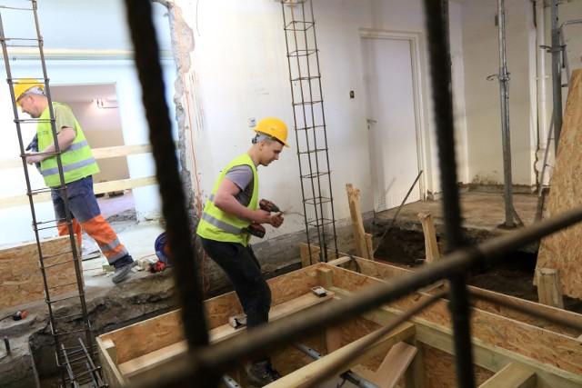 Trwają prace modernizacyjne  budynku Przedszkola Miejskiego nr 11