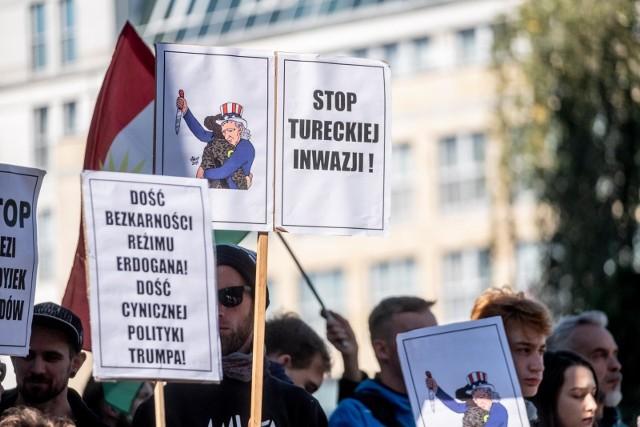 Solidarni z Kurdami. Lublin był jednym z pierwszych miast, w których odbyła się manifestacja.
