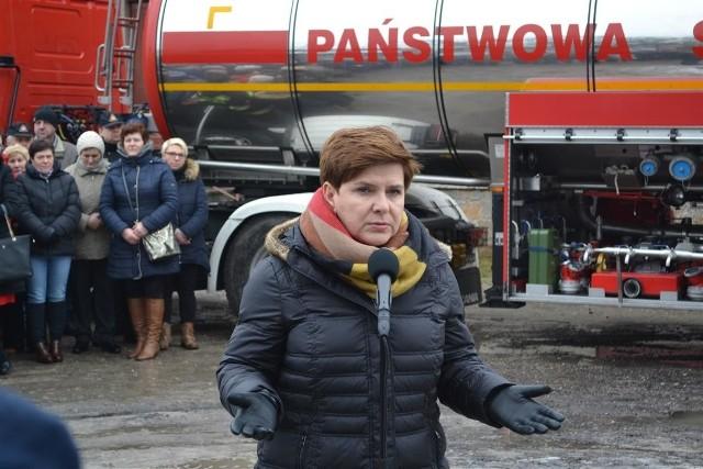 Premier Beata Szydło w Koniecpolu