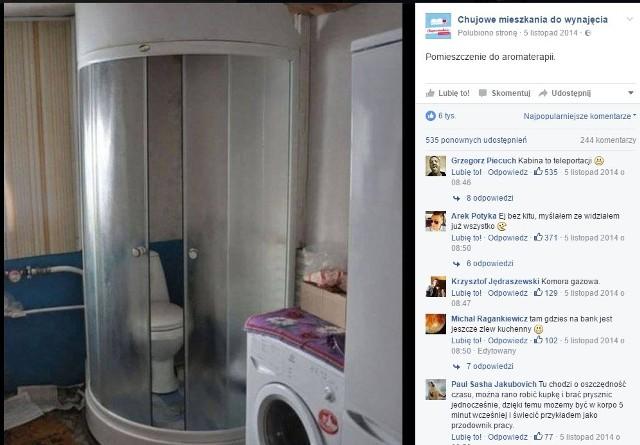 """Toaleta pod prysznicem, wanna w kuchni, - to tylko nieliczne z aranżacji, które można spotkać w mieszkaniach przeznaczonych na wynajem. Na takie """"kwiatki"""" polują administratorzy facebookowej strony """"Ch****e mieszkanie do wynajęcia"""", która zebrała już ponad 150 tys. fanów. Zobaczcie, na co można się natknąć szukając mieszkania do wynajęcia!Wideo: O czym warto pamiętać przy urządzaniu mieszkania?źródło: Dzień Dobry TVN/x-news"""