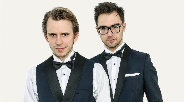 Wiolonczelista Marcin Zdunik i pianista Aleksander Debicz
