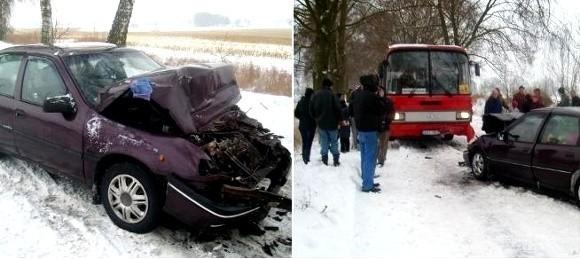 Jedną osobę z urazem kręgosłupa przetransportowano śmigłowcem do szpitala w Szczecinie, zaś drugą osobę do szpitala w Stargardzie.