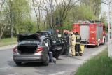 Zderzenie na Waltera Janke i Obywatelskiej - dwa auta rozbite ZDJĘCIA