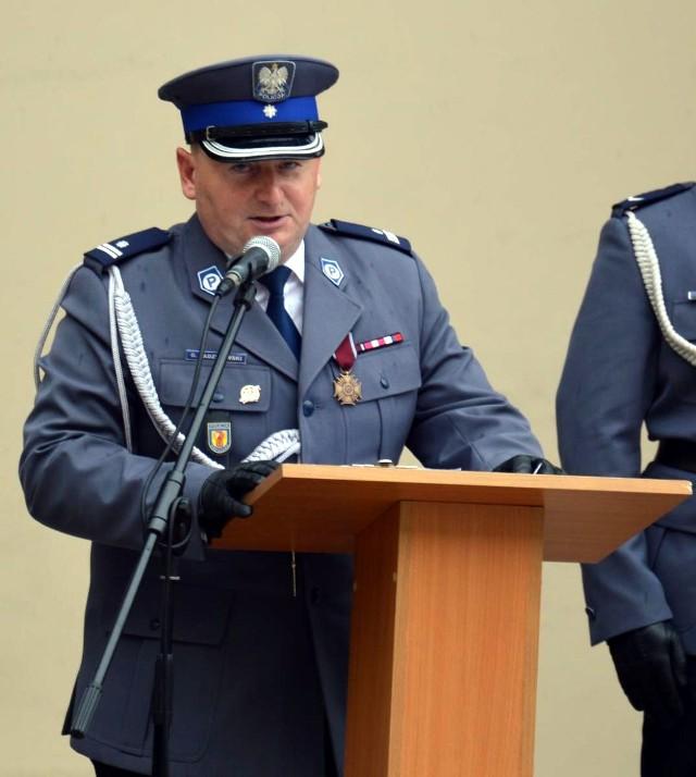 Grzegorz Radzikowski, komendant KPP w Łowiczu