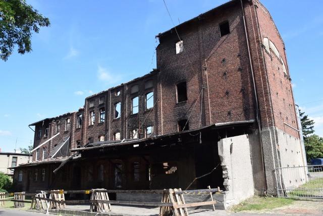 Pożar młyna w Byczynie - stan aktualny spalonego budynku