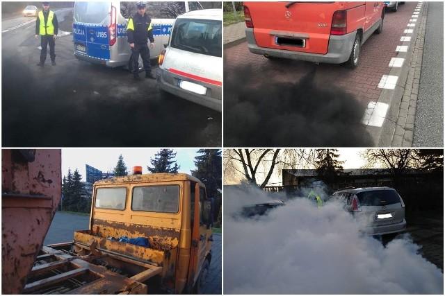 """Kłęby czarnego dymu, brak lamp czy zdezelowane i przeciekające auta. Sprawdźcie w naszej galerii jak niesprawne samochody jeżdżą w Poznaniu oraz jak wygląda praca policjantów, którzy zajmują się ich """"wyłapywaniem"""".Przejdź do galerii --->"""