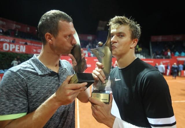 Filip Polasek i Karol Drzewiecki podczas Pekao Szczecin Open 2018.