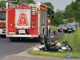 Śmiertelny wypadek motocyklisty pod Włocławkiem [zdjęcia]