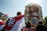 Setki Białorusinów pod wrocławskim muralem na cześć opozycji