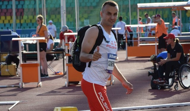 Michał Szafrański na Mistrzostwach Europy w Lekkiej Atletyce Osób Niepełnosprawnych w Berlinie.
