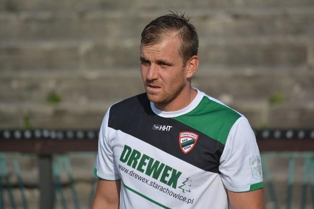 Mariusz Jaros i jego koledzy ze Staru wkrótce będą grali w koszulkach z logo Zakładu Górniczo-Metalowego Zębiec.