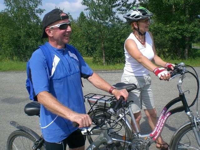 Jak przyjeżdża do nas, często wyruszamy na wspólne wycieczki rowerowe  - mówi pani Danuta