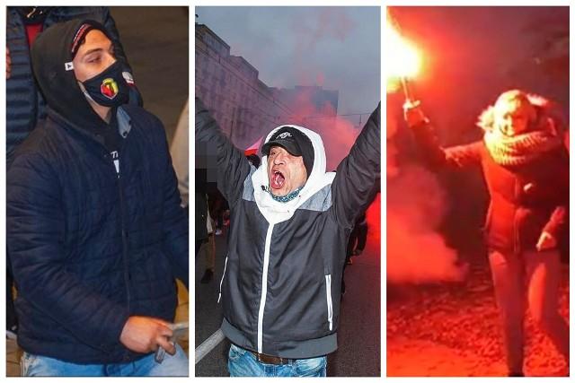 Policjanci z wydziału dochodzeniowo-śledczego KRP Warszawa VII publikują wizerunki osób podejrzewanych o łamanie przepisów obowiązującego prawa w dniu 11 listopada 2020 roku na terenie Pragi Południe w okolicach dworca PKP Stadion oraz Alei Poniatowskiego