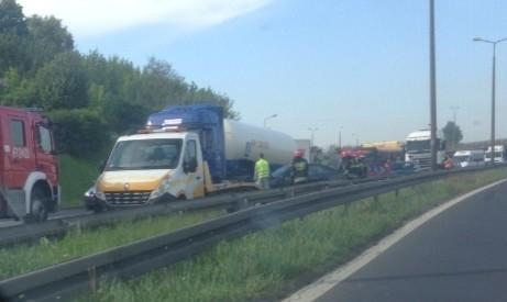 Wypadek w Sosnowcu na DK 94. Trasa jest zablokowana