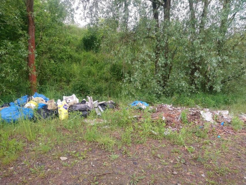 Nielegalne wysypisko śmieci na Naramowicach
