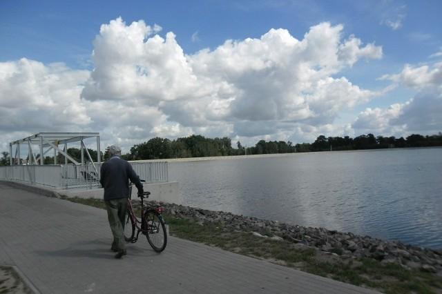 Zbiornik na Stobrawie pod Kluczborkiem.