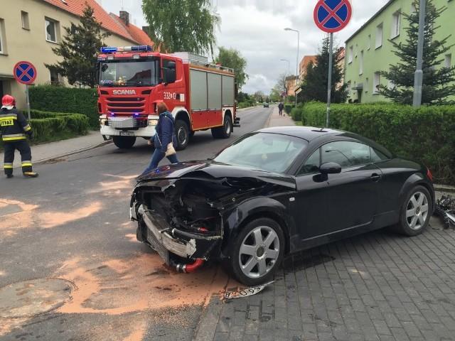 Wypadek na ul. Lutyków w Koszalinie