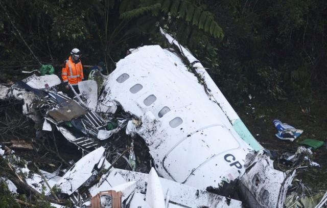 Samolot po katastrofie z piłkarzami Chapecoense na pokładzie