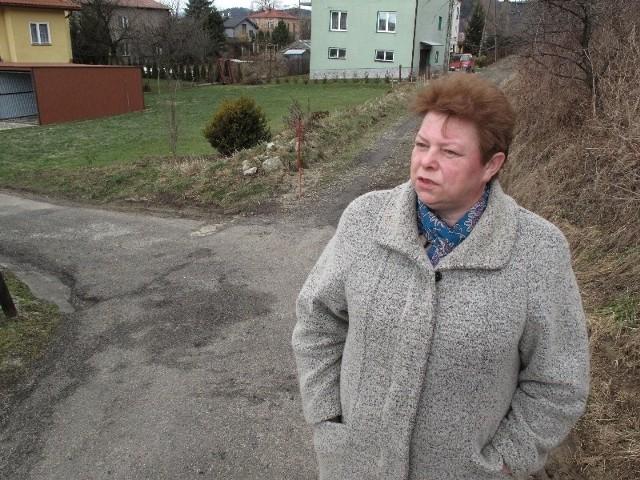 - Niedawno mąż przywoził blachę i samochód nie dojechał, trzeba było się dobrze namęczyć i na wózku kawał drogi pod górkę wozić – mówi Anna Róg, mieszkanka osiedla Ulaszowice w Jaśle.