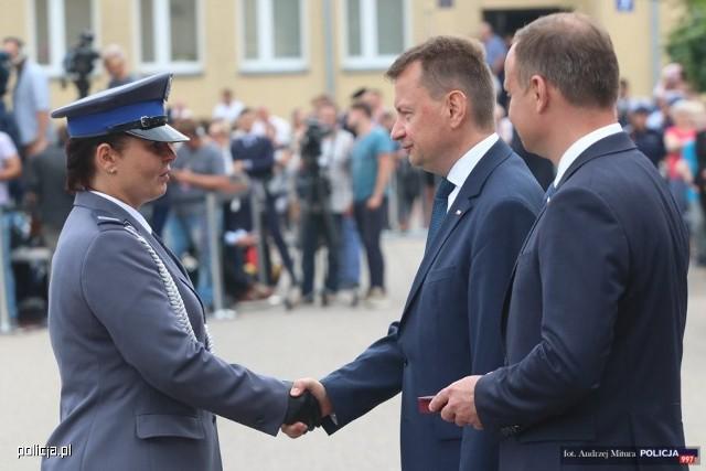 St. sierż. Marzena Pniewska została odznaczona podczas centralnych obchodów Święta Policji, które się odbyły 23 lipca w Legionowie.